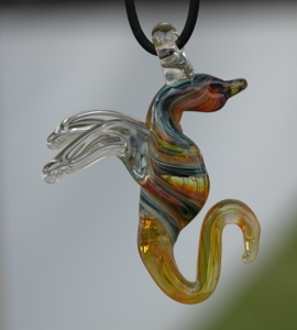 Lampworked Dragon Pendant